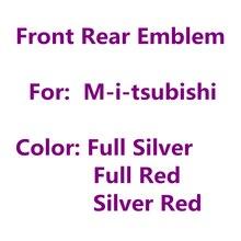 Красно-серебристый ABS передний капот или задний бампер багажник отметка автостайлинг значок для Mitsubishi
