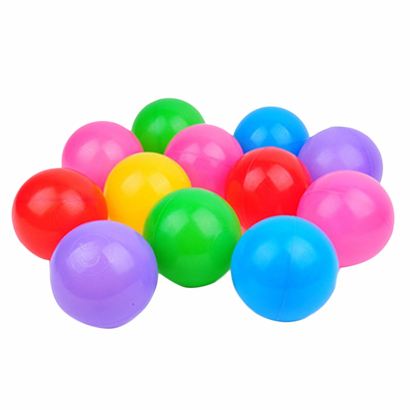 Hot-100Pcs Colorful Ball Soft Plastic Ocean Ball Funny Baby Kids Swim Pit Pool Toys