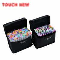 Набор маркеров Touchnew для творчества, набор маркеров с мягкими чернилами, профессиональный дизайн, для студентов, роспись вручную, масляные м...