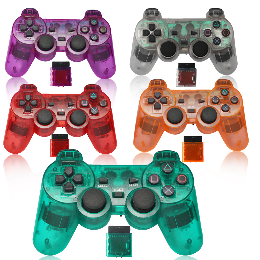 <font><b>2</b></font>.4G Wireless Gamepad for <font><b>Sony</b></font> <font><b>Playstation</b></font> <font><b>2</b></font> Controller for <font><b>PS2</b></font> Console Joystick Double Vibration Shock Joypad Wireless Controle image