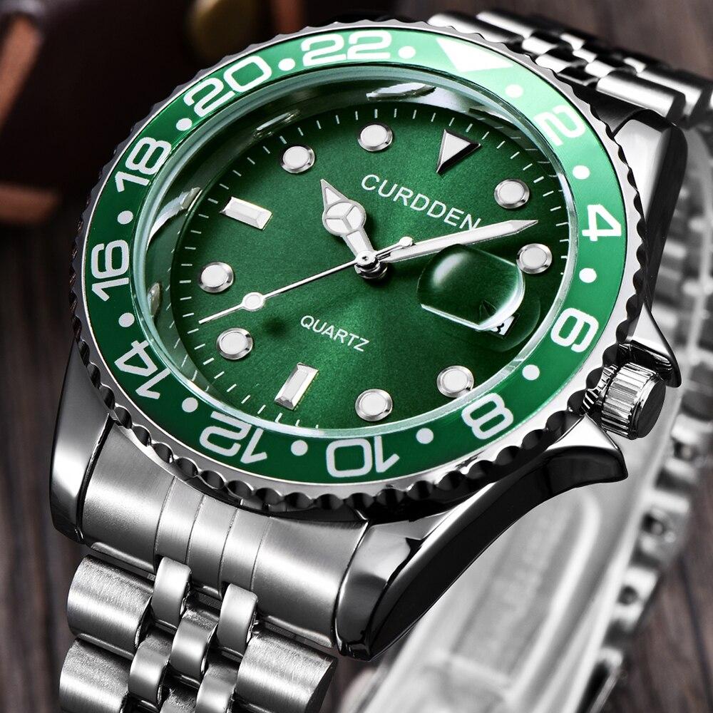 Купить curdden большие брендовые часы мужские модные роскошные часы