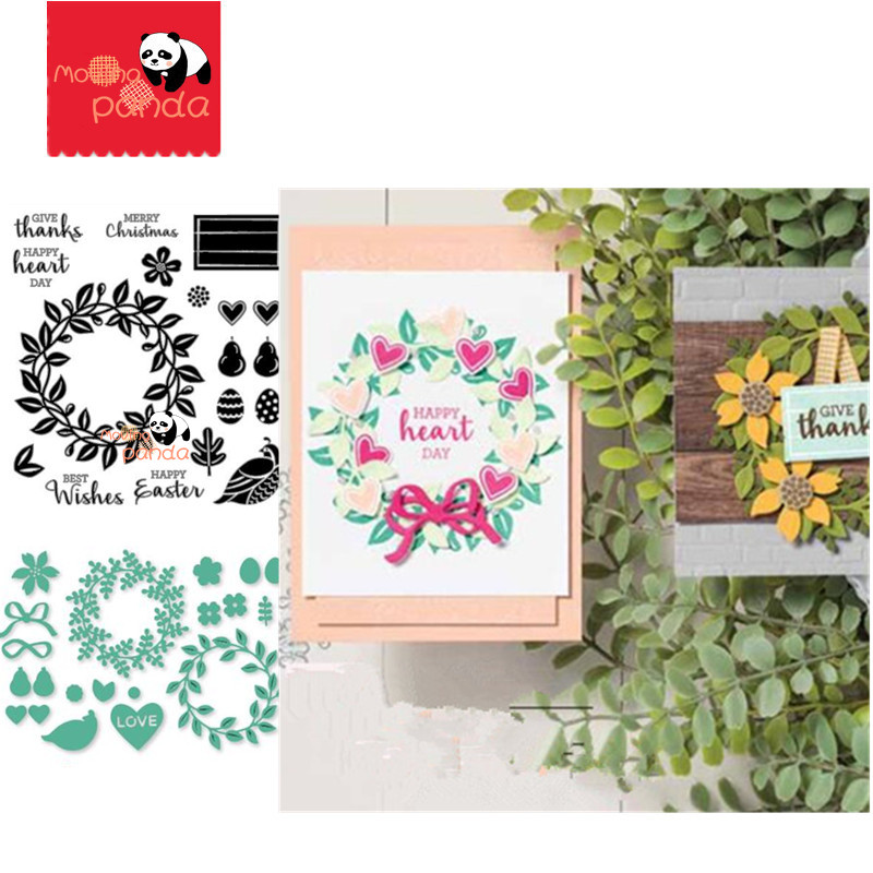 MP155 ARRANGE A WREATH Metal Cutting Dies And Stamps Stencil Scrapbooking Photo Album Card Paper Embossing Craft DIY