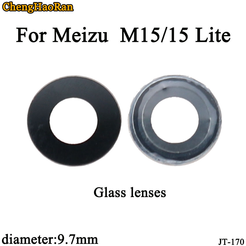 ChengHaoRan 2pcs/lot 9.7mm Glass Rear Back Camera Glass Lens For Maizu M15/15 Lite With Sticker