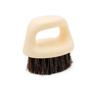 Image 3 - 1 sztuk wzór pierścienia włosia konia mężczyzn pędzel do golenia z tworzywa sztucznego przenośny fryzjer broda szczotki Salon czyszczenia twarzy Razor Brush Y 87
