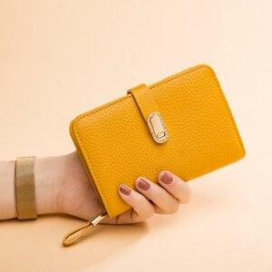 Image 2 - Hakiki deri tasarımcı cüzdan kadın cüzdan moda para çantası cep telefonu cep bayanlar lüks uzun çanta 6915