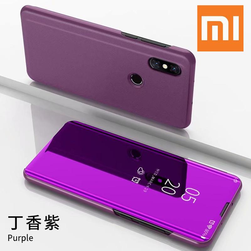 Mirror Smart View Case Xiaomi Redmi 8A 7 Note7 Flip Leather Stand Case Xiaomi Redmi 5 Plus 6A Note 7 5 4X 6 Pro series case