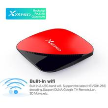 Android 9.0 Network Player X88 PRO TV BOX RK3318 TV Box Set Top Box 4K Ultra HD Supports H.265 4K Output vorke z3 4k kodi tv box