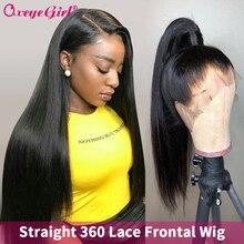 250 densidad peluca con encaje sin pegamento 360 peluca Frontal de encaje Pre arrancado con pelo de bebé Remy brasileño lacio Lace Frontal pelucas de cabello humano
