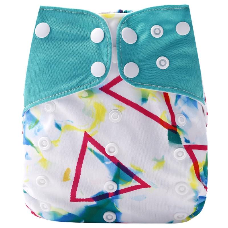 [Simfamily] 1 шт. многоразовые тканевые подгузники, регулируемые детские подгузники, моющиеся подгузники, подходят для 3-15 кг детские подгузники - Цвет: NO34