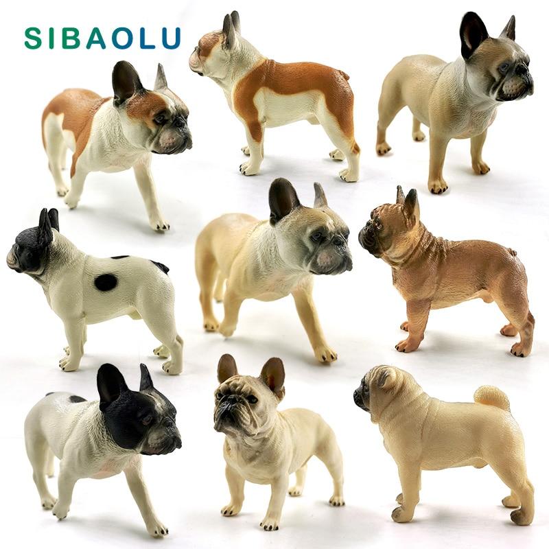 New Farm Lovely Dog Simulation Bulldog figurine Animal model Diy home decor miniature fairy garden decoration accessories modern