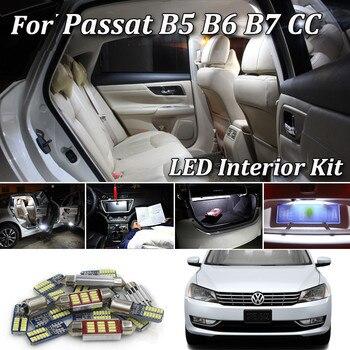 цена на 100% White Error Free interior LED bulb indoor map dome light Kit For Volkswagen VW Passat B5 B6 B7 CC Sedan Variant (1997-2014)