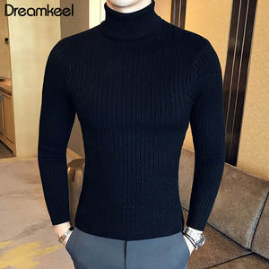 Male Sweater Winter Pullover Turtle Neck Men's Jumper White Mens Knitwear Pull Homme Turtleneck Men Sweater Christmas Cotton Y1