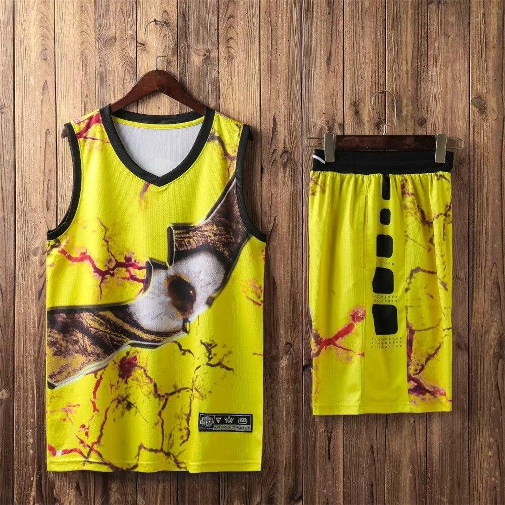 camisa basquete 2020 personalizado impresso esportes terno
