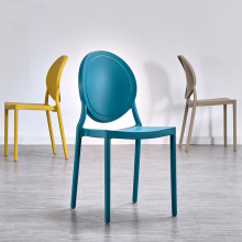 Modern Leisure Plastic Chair Restaurant for Dining Chair Nordic Restaurant Home Kitchen Living Room Meeting Plastic Dining Chair