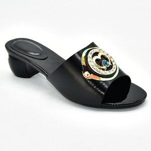 Image 5 - Buty damskie klapki na lato dobrej jakości buty ślubne damskie włoskie ozdobione Rhinestone klapki do noszenia na co dzień dla obuwia damskiego