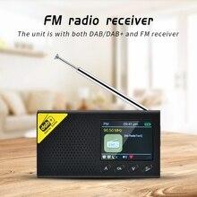 Radio Digital Portátil con Bluetooth, DAB/DAB + y receptor FM, Radio ligera recargable para el hogar, 1 Juego, novedad de 2020
