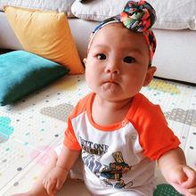 Baby Girls Donut Head Wrap Top Knot Turban Headband Baby Hair Accessories Toddler bullet print fabric flower headwear HB397D стоимость