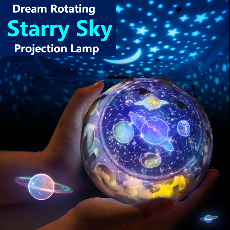 LED Starry Sky Night Light Planet Star Moon Planet Projector Lamp Cosmos Universe Night Lights Kids Baby Christmas Gift