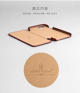 Image 2 - 100% אמיתי עור Flip כיסוי Case עבור Apple iPhone 6 6S 7 8 בתוספת SE 2020 יוקרה Fundas עם מתנה חינם מסך מגן