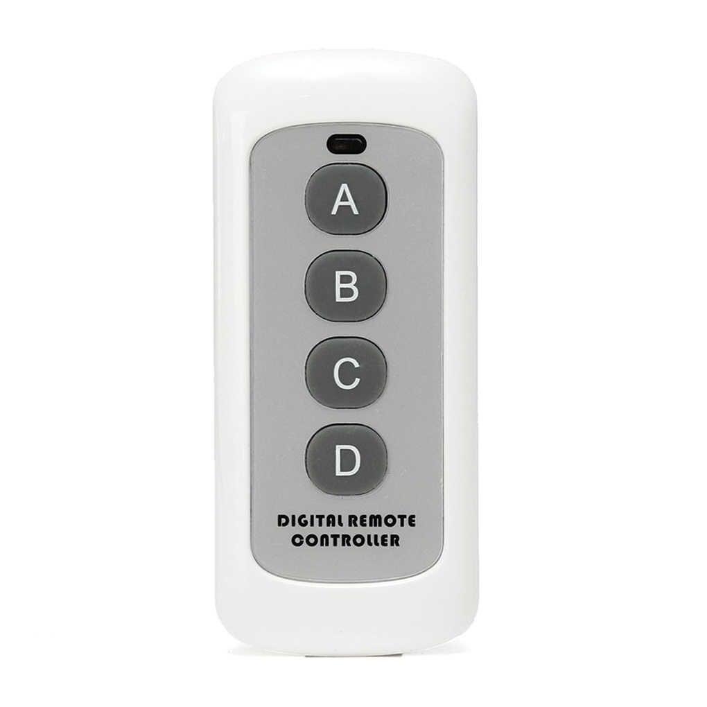Interruptor de Control remoto de código EV1527 de 4 botones de 433MHz TRANSMISOR DE RF llave inalámbrica para abridor de puerta de garaje de casa inteligente