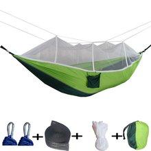 Portable foldable double camping hammock mosquito net tree hammocks