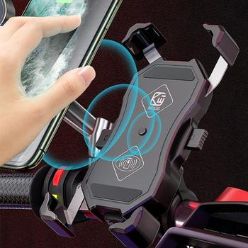 Motorcycle Wireless Charging Mobile Phone Bracket Wireless Charging + Usb Line Charging Motorcycle Riding Navigation 15W