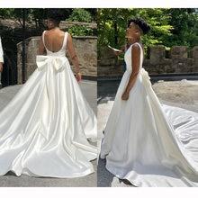 Свадебное платье без рукавов простой сатин спинки