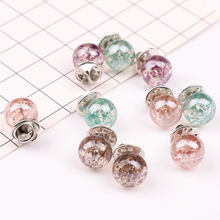 New Elegant Brooches Pins Women Resin Sweater Collar Pin Jewelry Round Style Trinket Brooches Clear Ball Clothes Accessories(China)