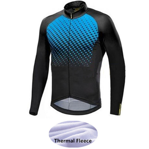 Cycling Jersey Maillot-Ciclismo Winter Road-Bike Long-Sleeve Mavic Fleece Classic
