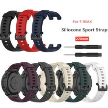 Soft Silicone Watch Band For A-mazfit T-Rex Smart Watch Bracelet Replacement Wristband Adjustable Sports Watch Strap premium new soft silicone watch band for amazfit t rex smart watch bracelet replacement wristband adjustable sports watch strap
