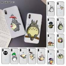 Чехол для телефона MaiYaCa Cute Totoro с унесенным спиром Ghibli Аниме Миядзаки для iPhone 11 pro XS MAX 8 7 6 6S Plus X 5 5S SE XR(China)