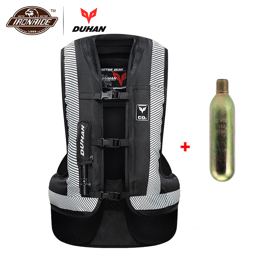 DUHAN New Upgrade Motorcycle Air-bag Vest Moto Racing Professional Advanced Air Bag System Motocross Protective Airbag