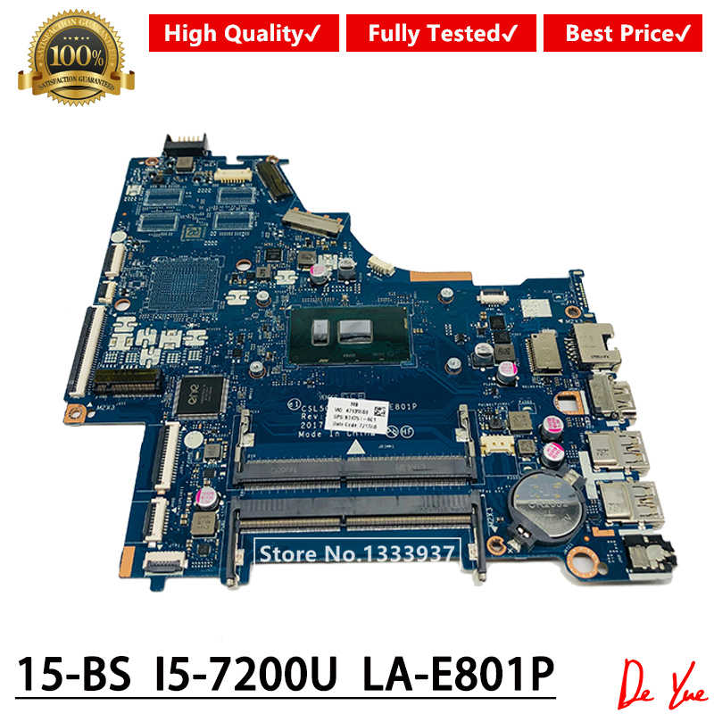 CSL50/CSL52 LA-E801P עבור HP 15-BS האם מחשב נייד 924751-601 924751-001 924751-501 עם i5-7200U DDR4 מלא נבדק Mainboard
