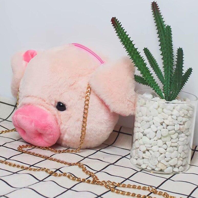 Pigskin Years Purse Doll Model Adorable Pig Purse Ornament Satchel Big Kid Adult Cute Pigskin Head Wallet