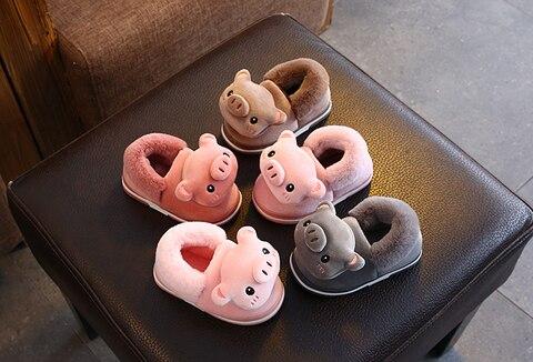 inverno meninos e meninas do bebe chinelos de algodao adoravel criancas bebe sapatos de algodao