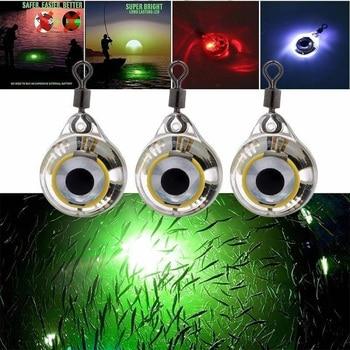 1pcs Mini Fishing Lure Light LED Deep Drop Underwater Eye Shape Fishing Squid Fishing Bait Luminous Lure for Attracting Fish