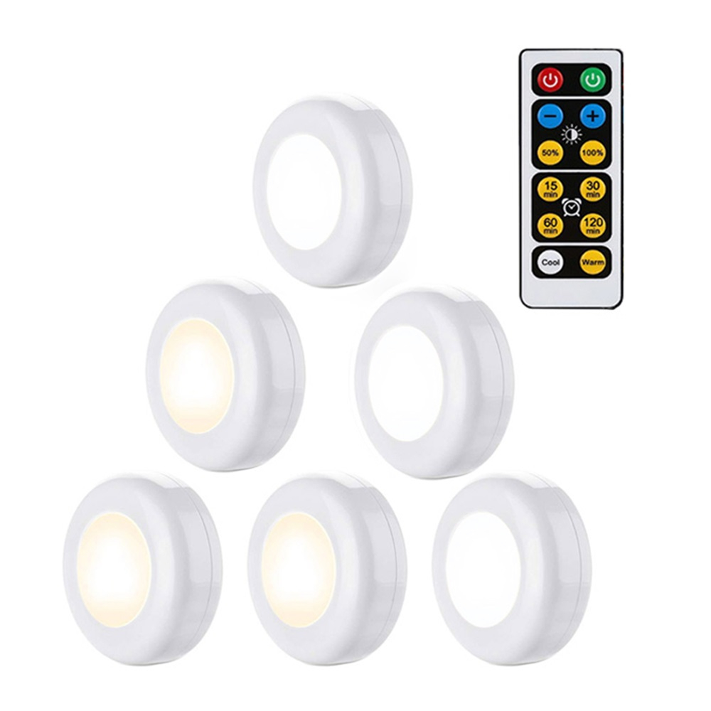 LED Night Light Wireless Light Wall Lamp Kids Bedroom Baby Feeding Closet Cabinet Stairs Light Night Lamp With Remote Control