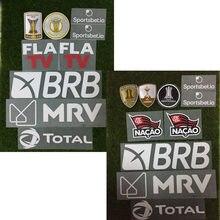 2020 remendo do patrocinador do flamengo ferro conjunto completo no emblema do futebol da transferência