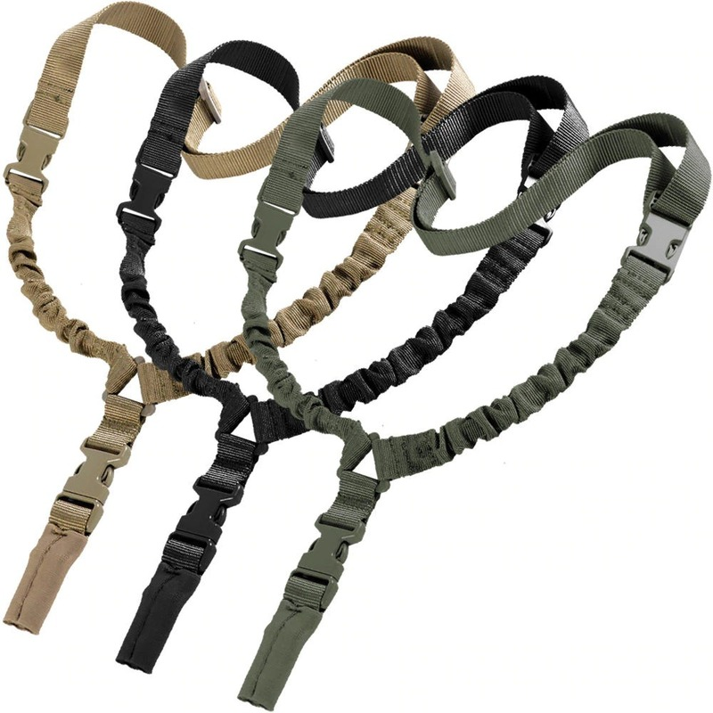 Single Point Mission Rope Tactical Rifle Sling Military Gun Strap Outdoor Hunting CS Strap Gun Rope Sling Survival Bungee Tool