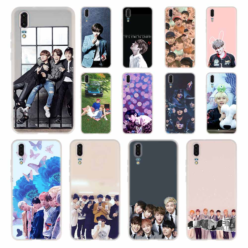 Phone Case For Huawei P40 P9 P10 P20 P30 Lite Cases Pro P Smart 2019 Cover Soft Kpop Bangtan Boys Shell