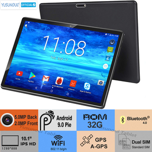 Hot sales New Android 9.0 Pie 10 inch tablet pc Dual Sim Rear Camera 5.0MP 32GB ROM 1280× 800 HD Resolution wifi планшетный ПК
