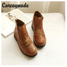 Новая обувь careaymade из натуральной кожи ручной работы ботинки