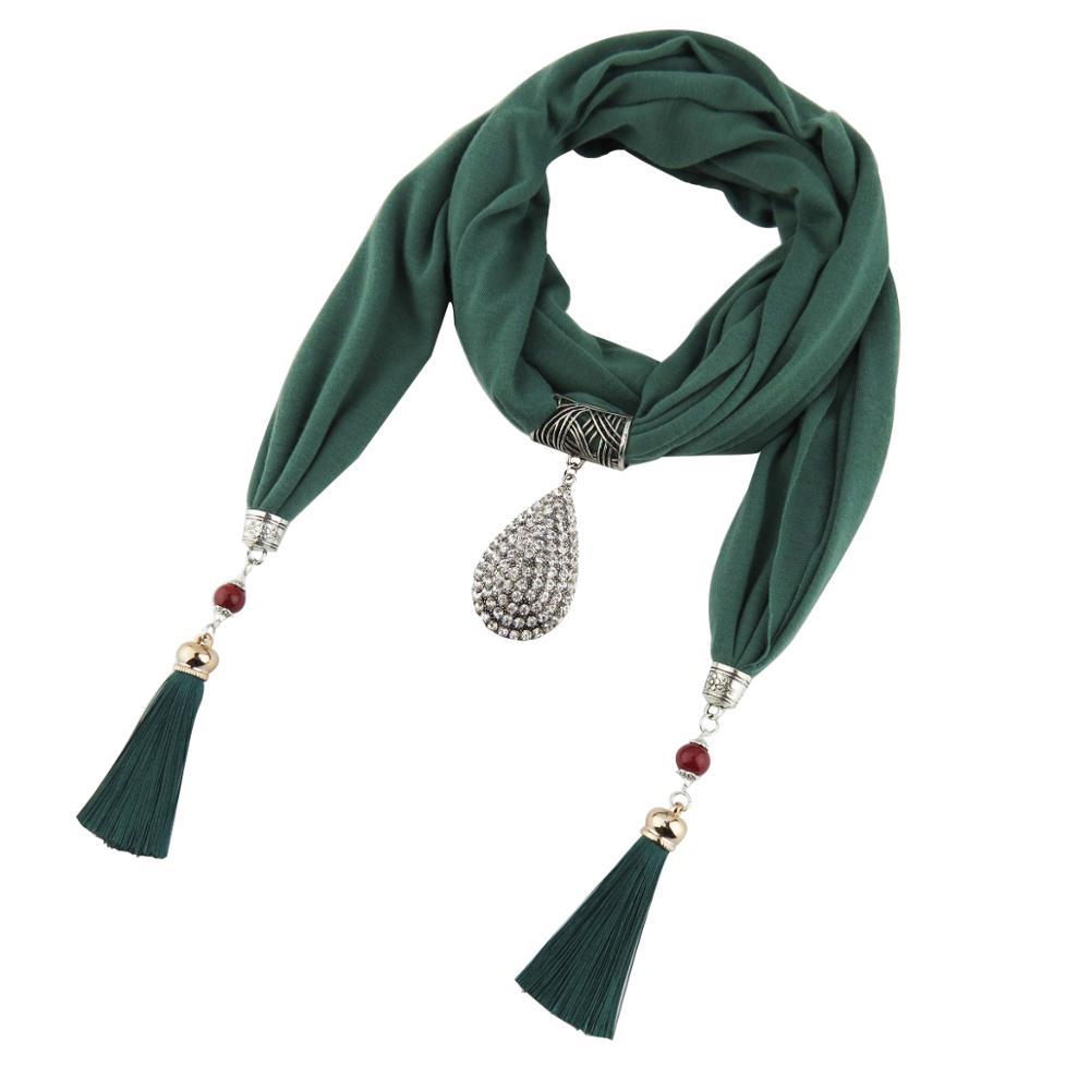 dres šály kapky přívěsek šperky šátek diamantový náhrdelník bavlna ženy střapec korálek šperky šátek ženy