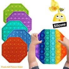 Bubble-Sensory-Toy Toys Adult Decompression Pops-It-Fidget Anti-Stress Push-Pops Autism