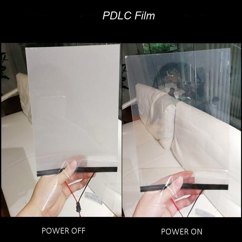 15X15cm стеклянная пленка для строительного окна, умная пленка PDLC, волшебная переключаемая прозрачная цветная пленка, размер образца для тести...