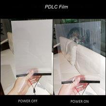 Filme para janela de construção de película 15x15cm, filme inteligente pdlc comutável mágico, transparente, tamanho de amostra para testes