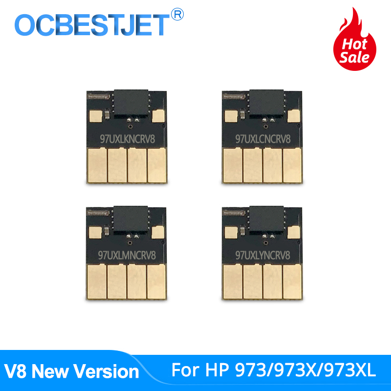 V8 Newest 973 ARC Chip For HP 973 973X 973XL CISS Auto Reset Chip For HP PageWide Pro 352dw 377dw 452dn 452dw 477dn 477dw 552dw