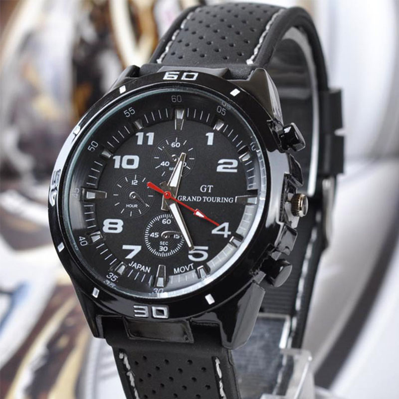 Hot Top Luxury Brand Fashion Military Quartz Watch Men Sports Wristwatches Clock Hour Male Relogio Masculino 8A08