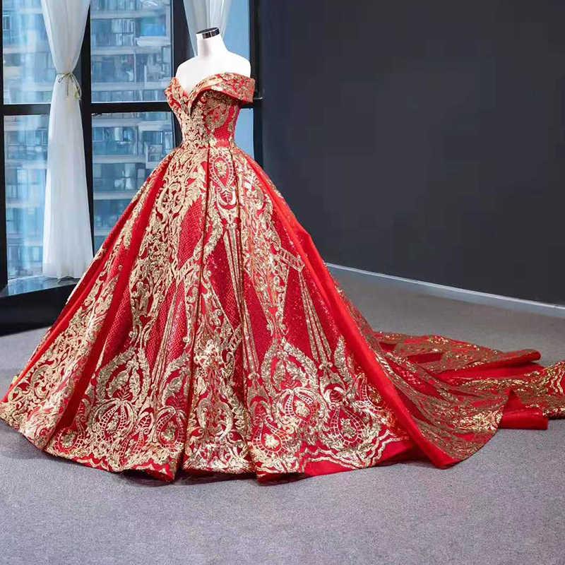 J67025 jancember abiti da sera 2020 con red sweetheart fuori dalla spalla manica corta modello del merletto delle donne vestito da sera abend kleider