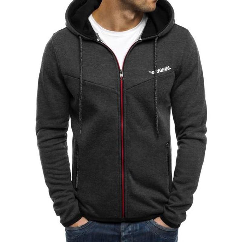 ZOGAA männer Kapuzen Jacken Casual Zip Up Hoodie Sweatshirt Mäntel Kleidung Outwear Frühling Mode Lange Hülse Lounge Tragen Männer mantel